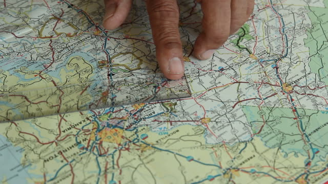 Measure on map.