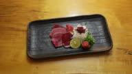 Meat sashimi