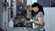 Mechanics Working In The Garage
