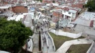 Medellin has inaugurated an escalator for the residents of one of its poorest areas Medellin Antioquia Colombia