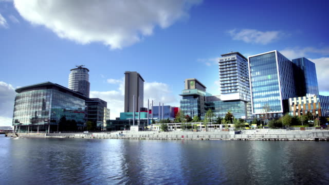 Media City in Salford Quays, Manchester, UK