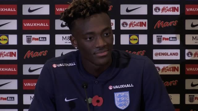 Media conference with Swansea striker Tammy Abraham ahead of England's friendly matches against Germany and Brazil