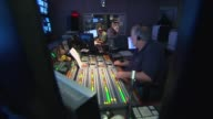 Media Technology Inside a Broadcast News Station Inside a Control Room on July 24 2013 in New York New York
