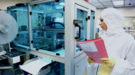 Medical production, woman in the laboratory