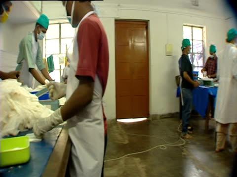 Medical students sort and prepare medication