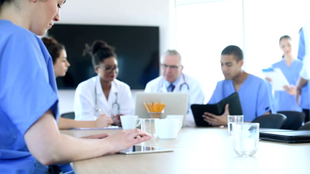 medical team meeting in a hospital