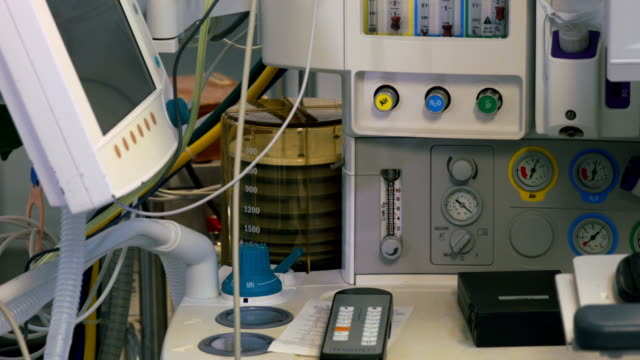 Medical ventilator in operating room