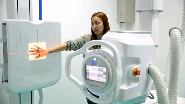 Medizinische Röntgen mit Patienten