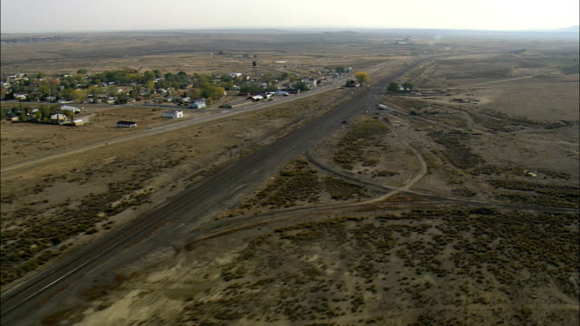 Medicine Bow, Wyoming - Aerial View - Wyoming, Carbon County, United States