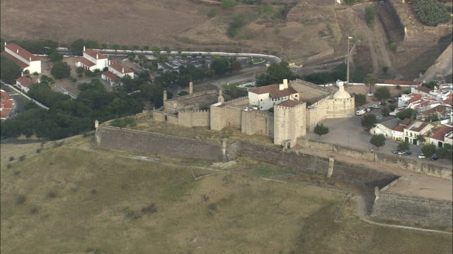 AERIAL WS Medieval fort / Elvas, Portalegre, Portugal