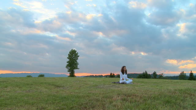 HD CRANE: Meditating in nature