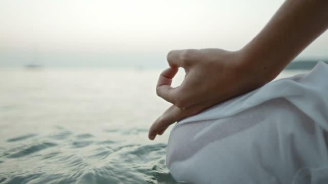 HD: Meditator's Hands In Mudra Position