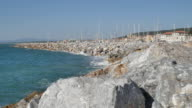 Mediterranean harbor promenade