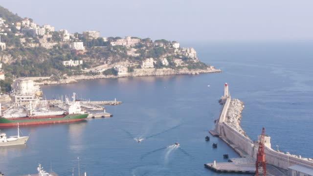 W/S, Mediterranean Sea, Azur, Cap Ferrat, harbour, boats passing, Nice, France