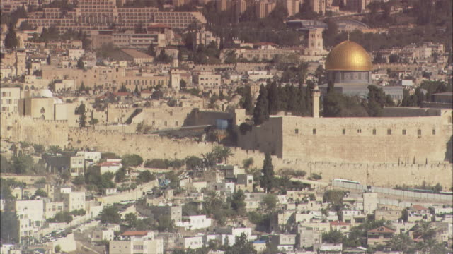 Medium Shot Locked Down - Establishing shot of Jerusalem / Jerusalem Israel