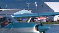 Medium shot of a seaplane