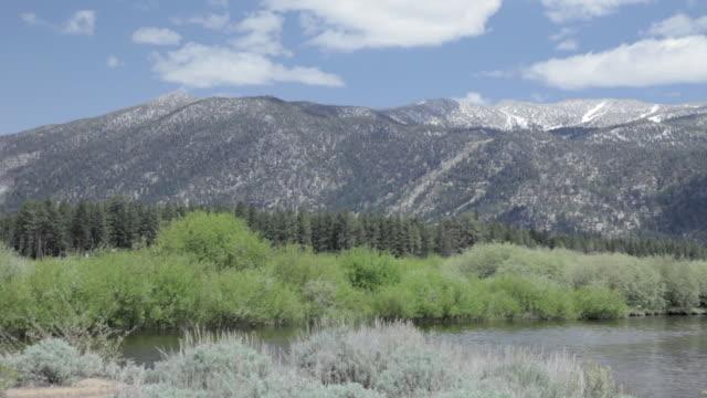 Medium Shot of mountains in Lake Tahoe