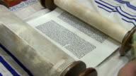 Medium Shot of Torah Scroll