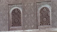 Medium shot windows at Courtyard of Lions/ Alhambra, Spain