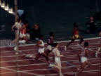 highlights ENGLAND London Crystal Palace Allan Wells wins 100 metres race Wells walks back along track after victory Start of 800 metres race...