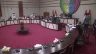 Meeting of the Kirkuk Provincial Council which is boycotted by Turkmen and Arab members is held on September 19 2017 in Kirkuk Iraq Kirkuk's...