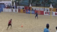 Megacity Lagos welcomes the Beach Soccer African Cup of Nations 2016 on the construction site of Eko Atlantic