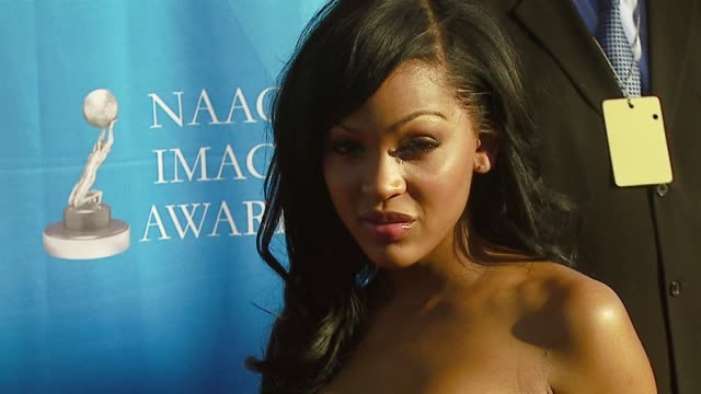Megan Good at the 38th NAACP Image Awards at the Shrine Auditorium in Los Angeles California on March 2 2007