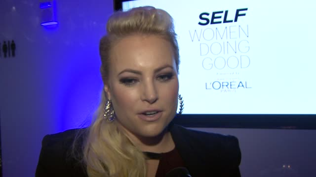 INTERVIEW Meghan McCain on why she is happy to be there presenting on Shakira on her new TV talk show how she came up with the idea at SELF...