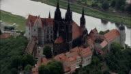 Meissen  - Aerial View - Saxony,  helicopter filming,  aerial video,  cineflex,  establishing shot,  Germany