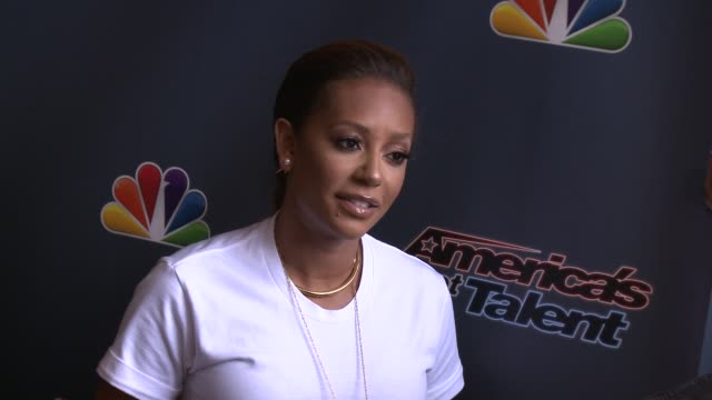 Mel B at 'America's Got Talent' Red Carpet at the Dolby Theater on April 22 2014 in Hollywood California