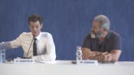 INTERVIEW Mel Gibson Andrew Garfield on describing hollywood on Desmond T Doss being a symbol of love at 'Hacksaw Ridge' Press Conference 73rd Venice...