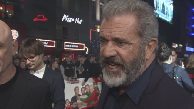 INTERVIEW Mel Gibson on returning to acting working with Will Ferrell Mark Wahlberg and John Lithgow at 'Daddy's Home 2' Premiere at Vue West End on...
