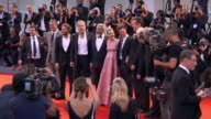SLOMO Mel Gibson Teresa Palmer Luke Bracey Andrew Garfield Hugo Weaving Vince Vaughn at 'Hacksaw Ridge' Red Carpet 73rd Venice Film Festival at...