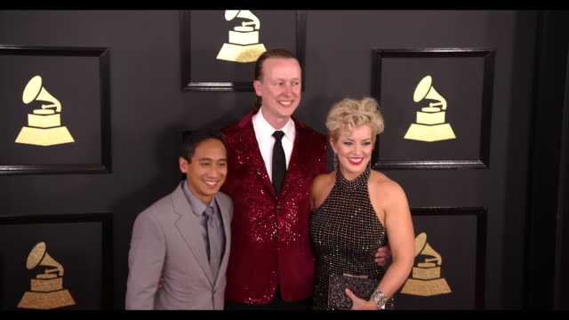Mela Dailey Carr Hornbuckle and Rick Gabrillo at the 59th Annual Grammy Awards Arrivals at Staples Center on February 12 2017 in Los Angeles...