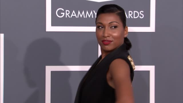 Melanie Fiona at The 55th Annual GRAMMY Awards Arrivals in Los Angeles CA on 2/10/13
