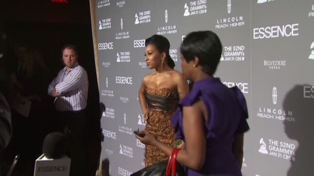 Melanie Fiona on Mary J Blige and on why Essence Magazine is so important at the ESSENCE Black Women In Music Honoring Mary J Blige at West Hollywood...