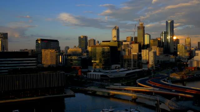 Melbourne, Australia: at sunset