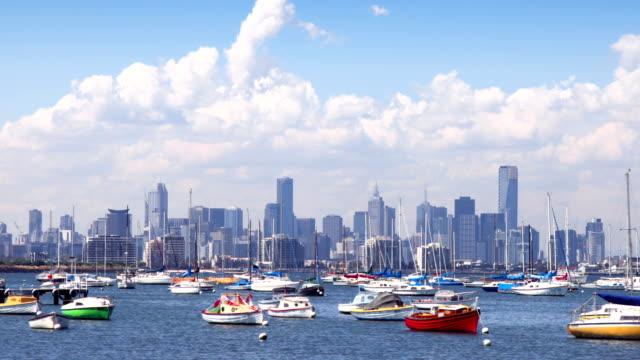 Melbourne Australia view across bay