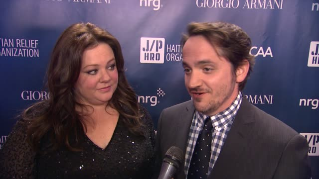 INTERVIEW Melissa McCarthy and Ben Falcone on the event at Sean Penn Friends HELP HAITI HOME A Gala to Benefit J/P Haitian Relief Organization...