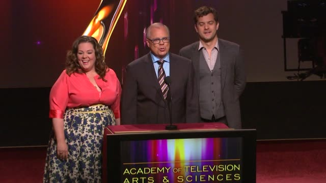 Melissa McCarthy and Joshua Jackson announce the nominees for the 63rd Primetime Emmy Awards