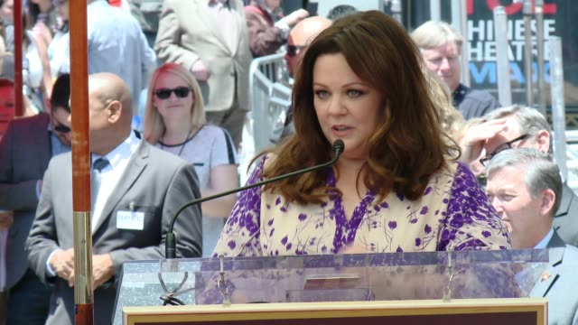 SPEECH Melissa McCarthy at Melissa McCarthy Honored With Star On The Hollywood Walk Of Fame on May 19 2015 in Hollywood California