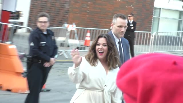 Melissa McCarthy Ben Falcone greets fans at The Boss Premiere at Regency Village Theatre in Westwood Celebrity Sightings on March 28 2016 in Los...