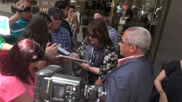 Melissa McCarthy exits SiriusXM Satellite Radio signs for poses with fans in Celebrity Sightings in New York
