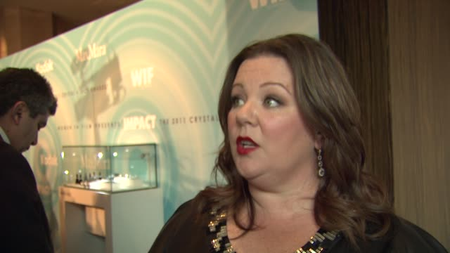 Melissa McCarthy on what we are celebrating her tonight how she feels about handling tonight's hosting duties how she tries to inspire other women...