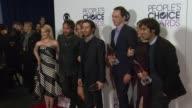 Melissa Rauch Johnny Galecki Kaley Cuoco Simon Helberg Mayim Bialik Kunal Nayyar Jim Parsons at People's Choice Awards 2016 at Nokia Plaza LA LIVE on...