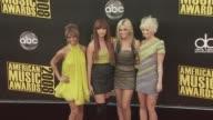 Melody Thornton Jessica Sutta Nicole Scherzinger Ashley Roberts and Kimberly Wyatt at the 2008 American Music Awards at Los Angeles CA