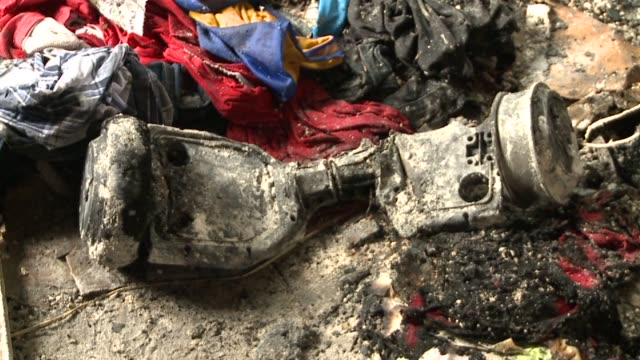 WGNO Melted Hoverboard in Fire Damaged Room After Hoveboard Caught Fire in New Orleans Louisiana on November 27 2015