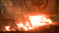 MS ZO Melted raw steel in founder filling in molds / Langenfeld, North Rhine-Westphalia, Germany