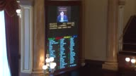 Member of the Illinois state senate gathered at the Illinois State Capitol on May 30 2014 to vote on the state budget plan for 2015