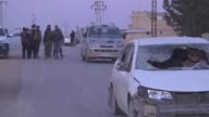 Members of Free Syrian Army celebrate in Syria's AlBab after taking control of the district's centrum from Daesh terrorists during the 'Operation...